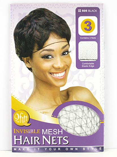 Qfitt Black Invisible Mesh Hair Nets