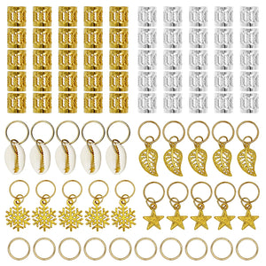 80 Pieces Hair Jewelry Rings Aluminum Hair Accessories
