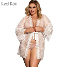 Long Sleeve Sexy Lace Night Dress Sleepwear Lingerie