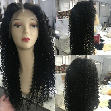 Natural Color Deep Curly Lacefront wig