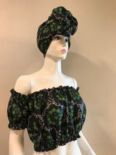 CROP TOP WITH MATCHING HEADWRAP
