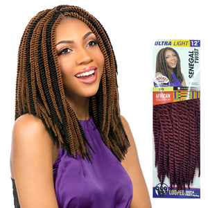 SENEGAL TWIST 12 Inch (LOOP) - Sensationnel African Collection Synthetic Braid. Color 30