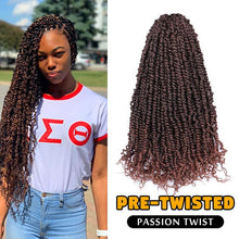 Pre-twisted Passion Twist Crochet Hair 18inch