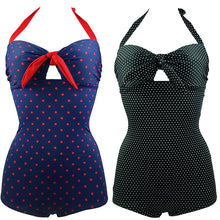 Tony Women One Piece Halter Monokini Padded Bra Boxer Swimsuit