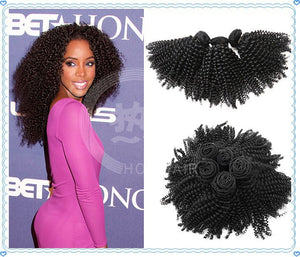 Virgin mongolian afro kinky curly hair extensions 7A unprocessed virgin hair