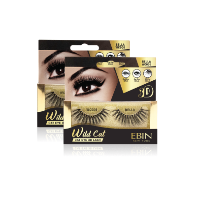 EBIN NEW YORK WILD CAT EYE 3D LASH-BELLA