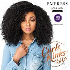 Empress Lace Front Wig Kinky Curly Hair  - GAME CHANGER 1B