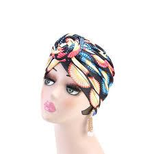 Knotted Print Turban