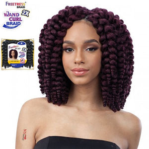 Freetress Synthetic Braid - 2X FLUFFY WAND CURL - #1B