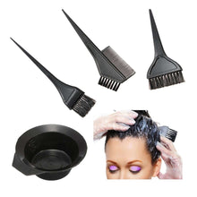 Hair Color Dye Bowl Comb Brushes Kit Set Tint Coloring Bleach