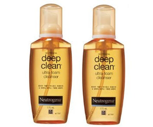 Neutrogena Deep Clean ultra foam cleanser