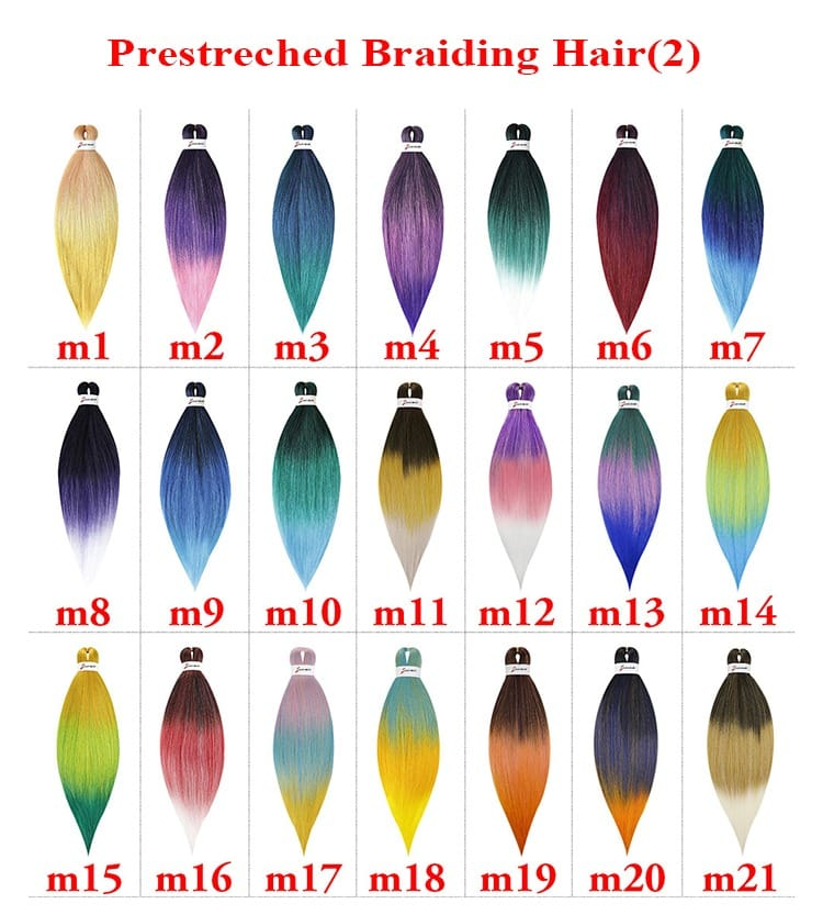 Prestretched Braiding Hair 26inch, 90g per Pack Ombre