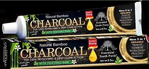Organic Bamboo Charcoal Toothpaste 100% Natural