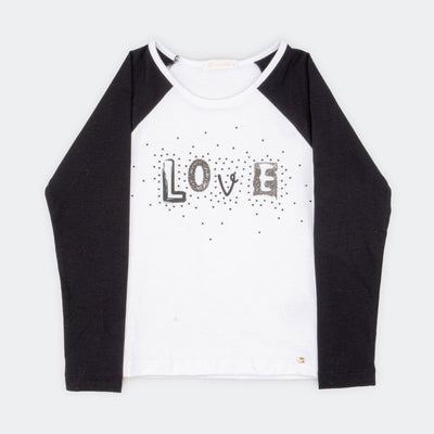 Camiseta Infantil Pampili Love Branco - pampili