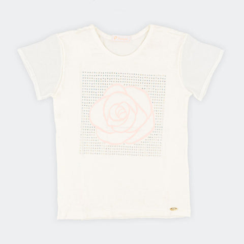 Camiseta Infantil Pampili Estampa Com  Hotfix Off White - pampili