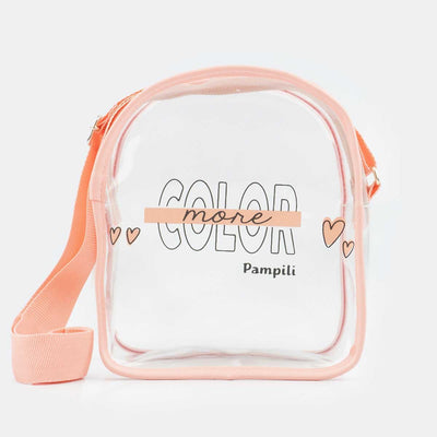 Bolsa Infantil Tiracolo More Color Transparente Com  Coral Fresh - pampili
