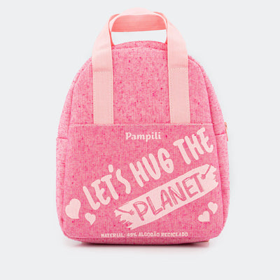 Mochilinha Infantil Let's Hug The Planet Pink - pampili