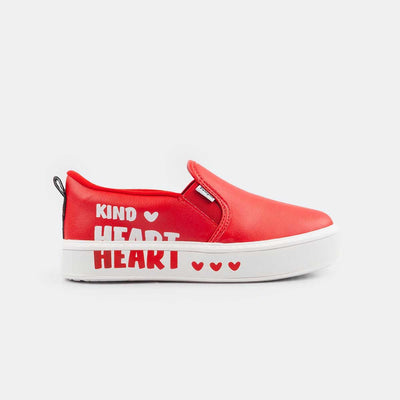 Slip On Infantil Pampili Glee  Kind Heart Vermelho Peper - pampili
