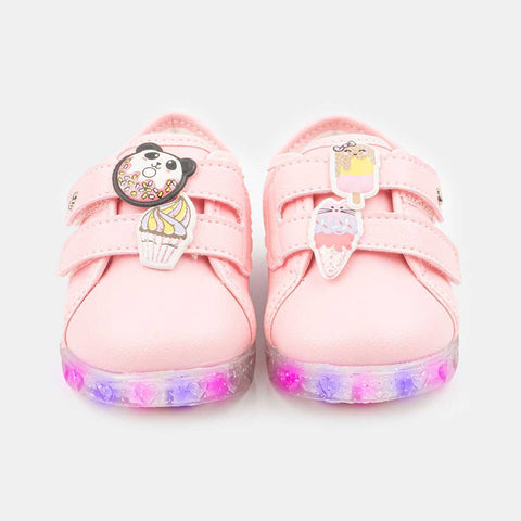 Tênis De Led Pampili Baby Fun Rosa Chiclete - pampili