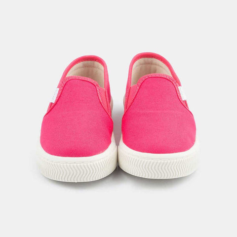 Tênis Infantil Pampili Mini Blog Slip On Em Lona Pink - pampili