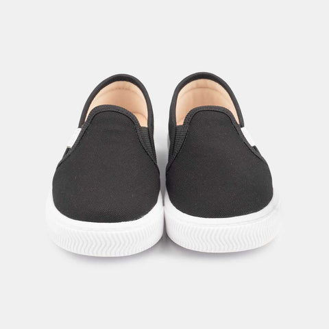 Tênis Infantil Primeiros Passos Pampili Mini Blog Slip On Preto - pampili