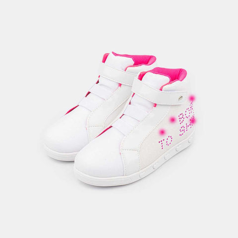 Tênis Sneaker Infantil Com Led Branco - Born To Shine - pampili