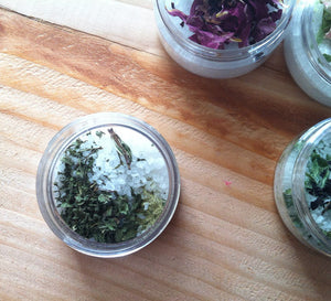 Herbal Bath Salt {SCULPTING}~ Spearmint, Rosemary & Anise - Natuer House