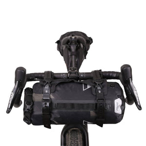 XTOURING Handlebar Harness Black + 7L DRY Bag Cyber-Camo Diamond Black Bundle - Cycle Touring Life