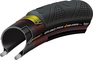 Continental Grand Prix 4 Season 700 X 28 / 32 Black-Duraskin Tire - Cycle Touring Life