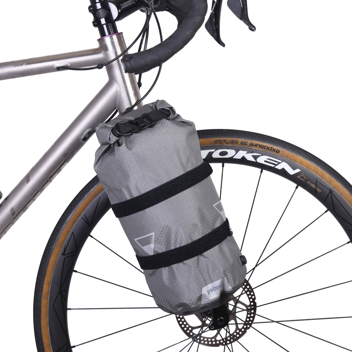 Bikepacking Ultralight 15L Fork Bag with Cage and Grips - Cycle Touring Life