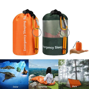 Camouflage Emergency Portable Sleeping Bag - Cycle Touring Life
