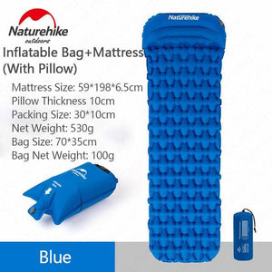 Inflating Compact Sleeping Mat With Pillow - Lightweight - 3 Colors Available - Cycle Touring Life