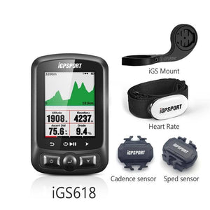 iGPSPORT GPS Bike Computer ANT iGS618 with Map Navigation - Cycle Touring Life