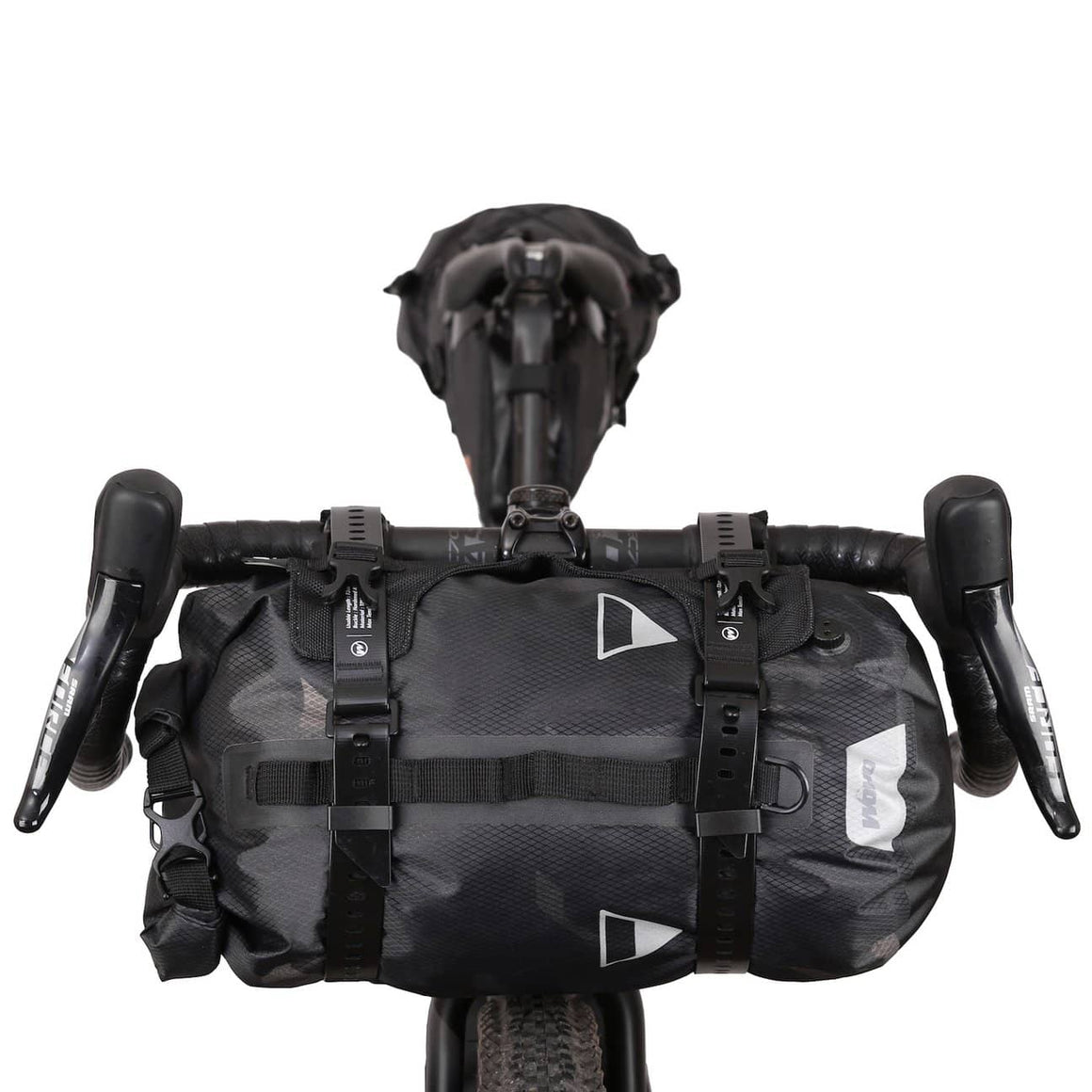 XTOURING Handlebar Harness Black + 15L DRY Bag Cyber-Camo Diamond Black Bundle - Cycle Touring Life
