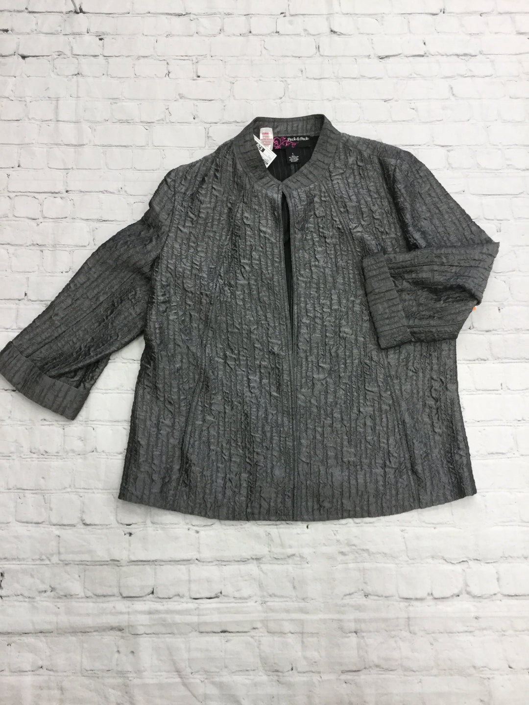 Primary Photo - brand: peck and peck , style: jacket outdoor , color: grey , size: l , sku: 125-4655-4698