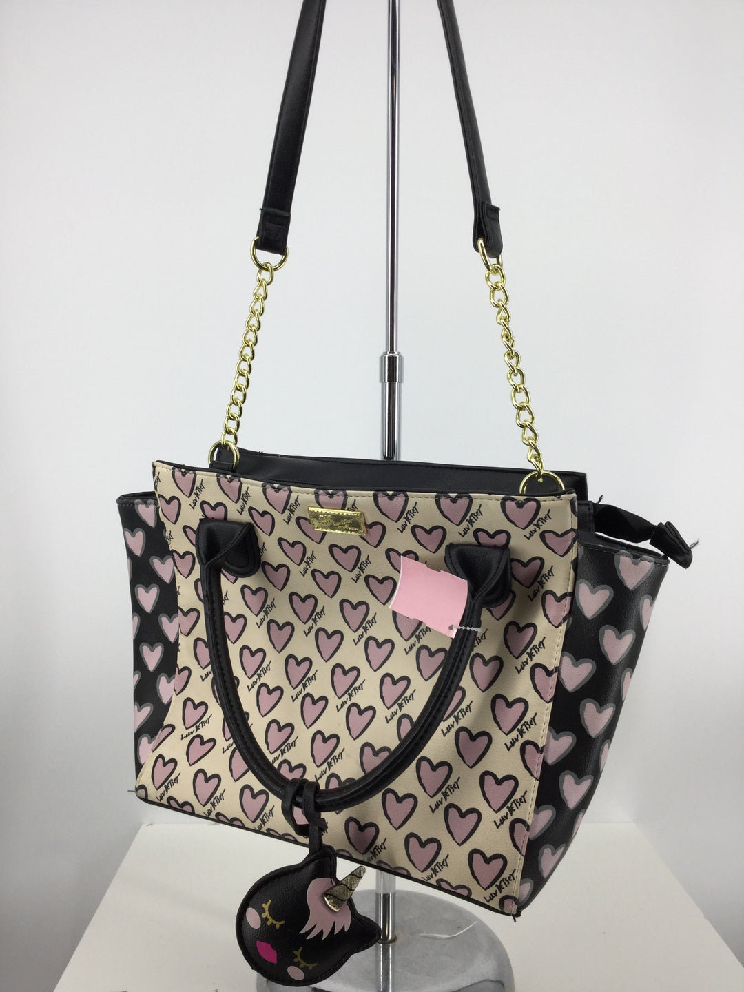 Primary Photo - brand: betsey johnson , style: handbag , color: pinkblack , size: medium , sku: 128-3212-47391