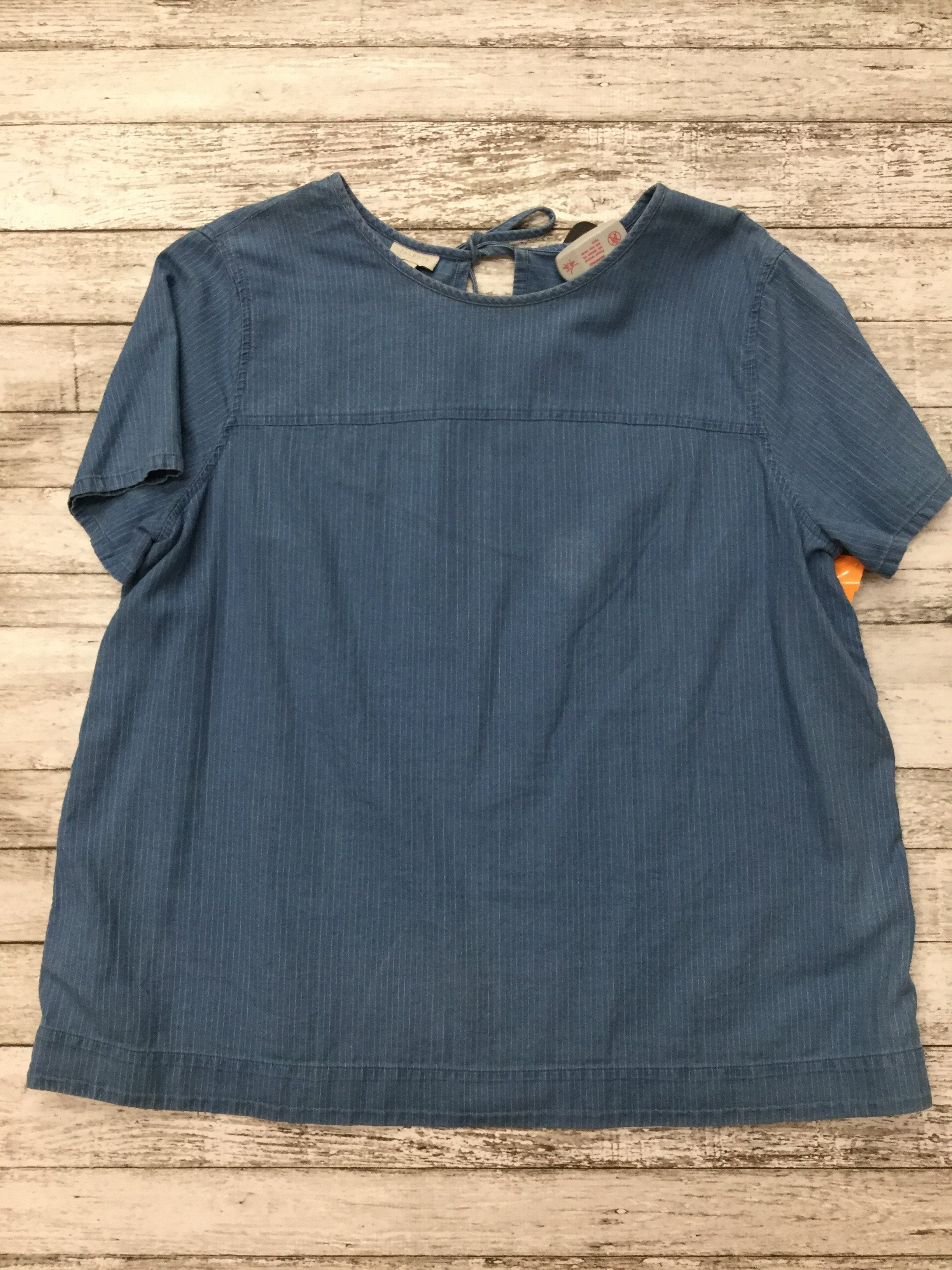 Primary Photo - brand: talbots , style: top short sleeve , color: blue , size: l , sku: 126-2092-155205