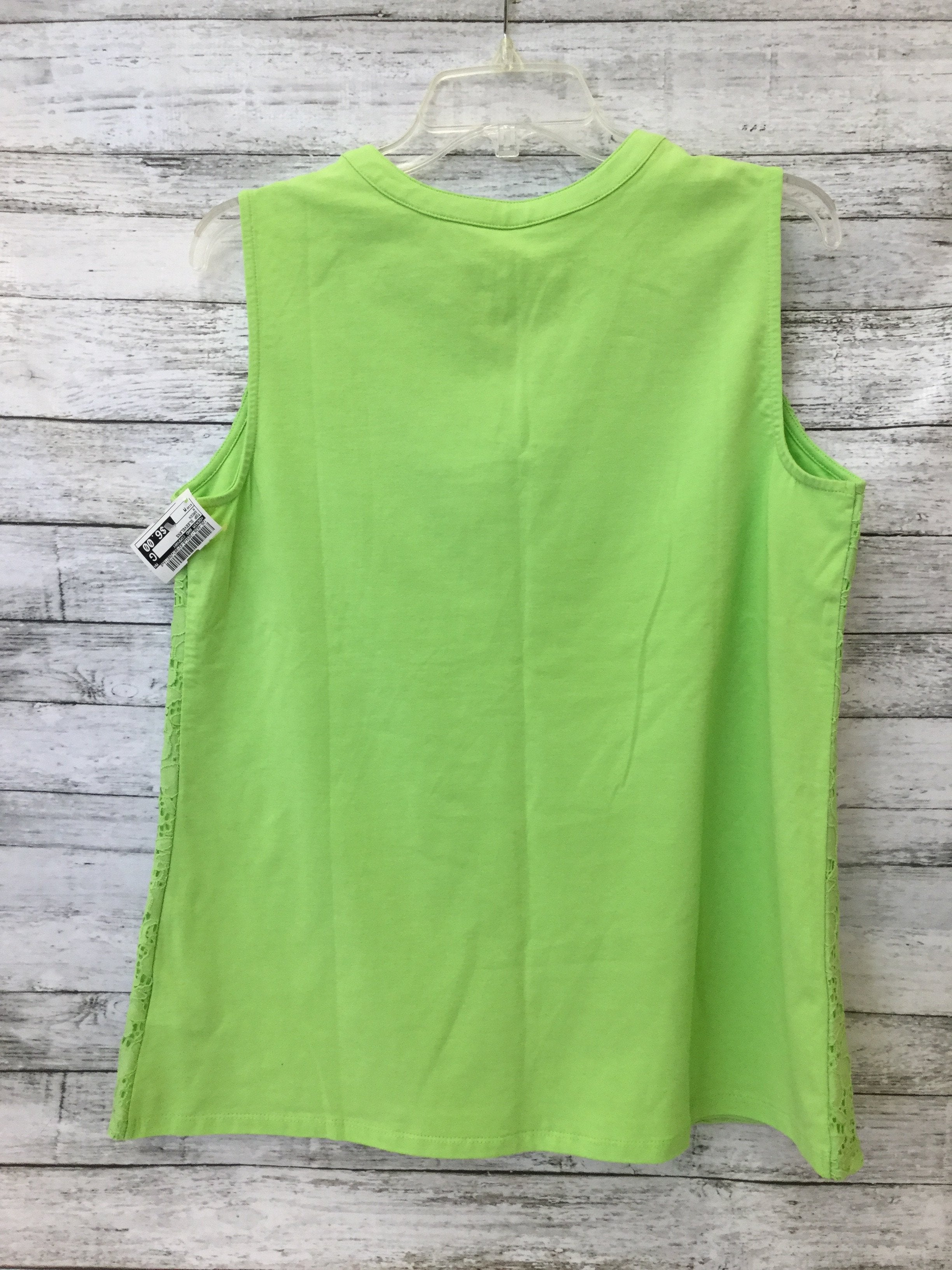 Photo #1 - brand: denim and company , style: top sleeveless , color: green , size: m , sku: 125-4628-12034