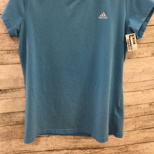 Primary Photo - BRAND: ADIDAS STYLE: ATHLETIC TOP SHORT SLEEVE COLOR: BLUE SIZE: L SKU: 128-5118-66