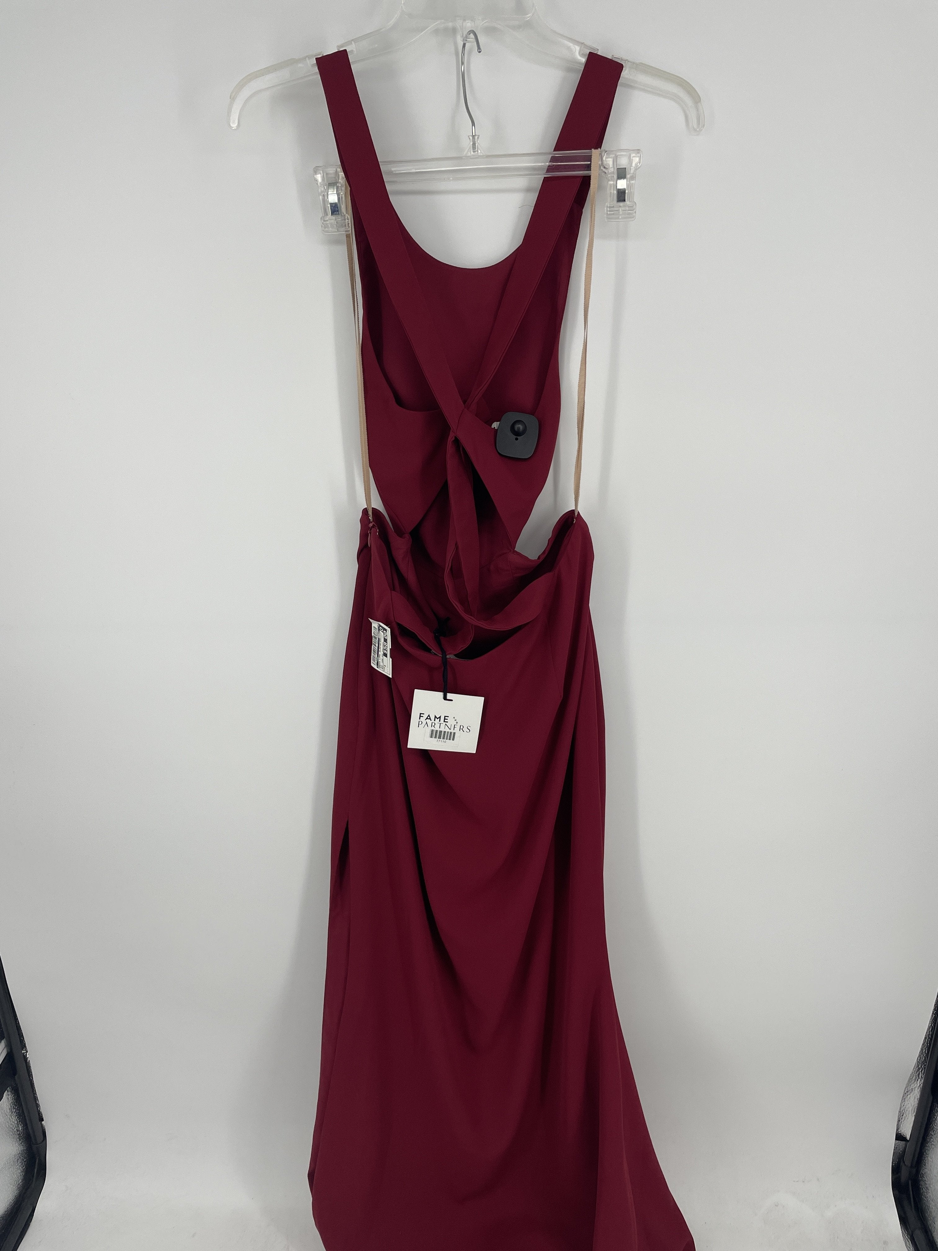 Photo #1 - brand:    fame and partners, style: dress long sleeveless , color: red , size: 8 , other info: new! fame and partners , sku: 128-4287-25696