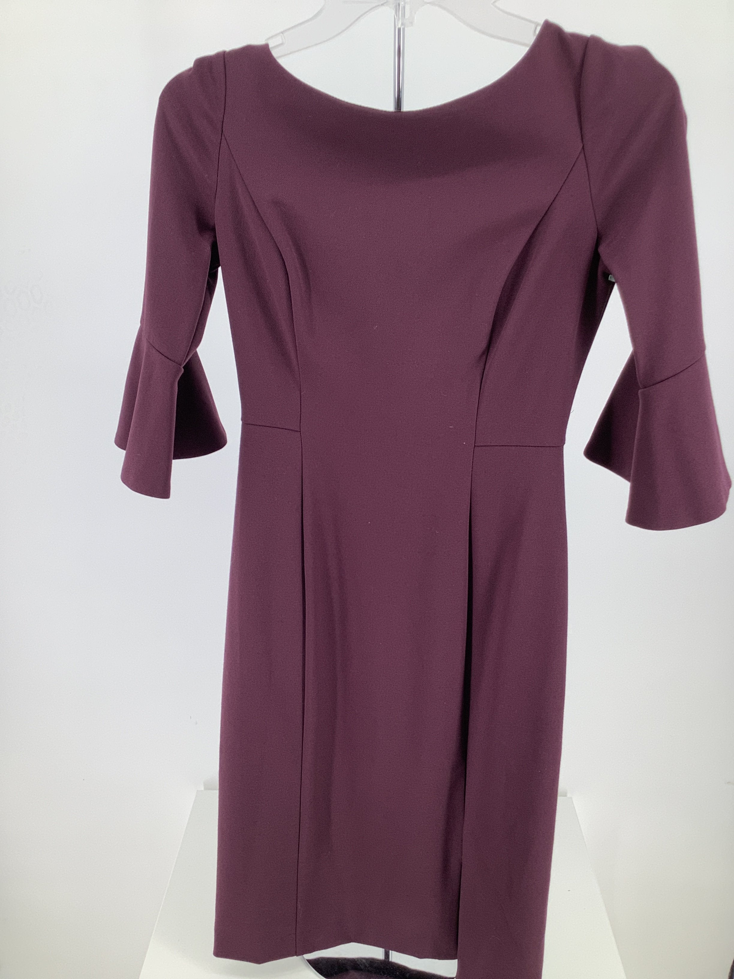 Primary Photo - brand: white house black market , style: dress short long sleeve , color: burgundy , size: 0 , sku: 105-3221-14959