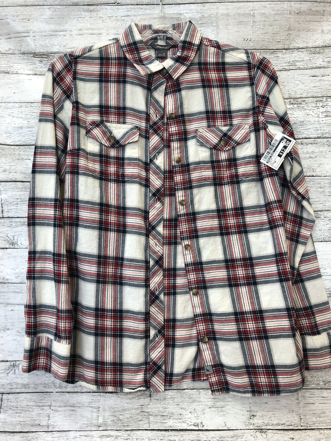 Primary Photo - brand: eddie bauer , style: top long sleeve , color: plaid , size: xs , sku: 125-2919-1830