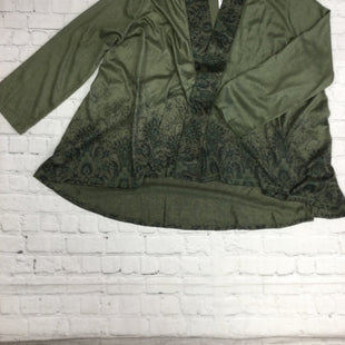 Primary Photo - BRAND: ONE WORLD STYLE: SWEATER CARDIGAN LIGHTWEIGHT COLOR: OLIVE SIZE: 3X OTHER INFO: NEW! SKU: 125-5153-328