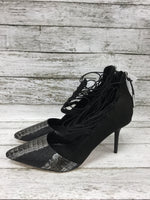 Photo #3 - brand: lamb , style: shoes high heel , color: black silver , size: 9 , sku: 127-4559-16105, , heels by lamb in good condition. zipper in back.