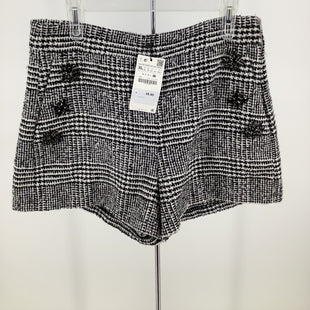 Primary Photo - BRAND: ZARA WOMEN STYLE: SHORTS COLOR: BLACK WHITE SIZE: XL OTHER INFO: NEW! SKU: 105-4940-7113