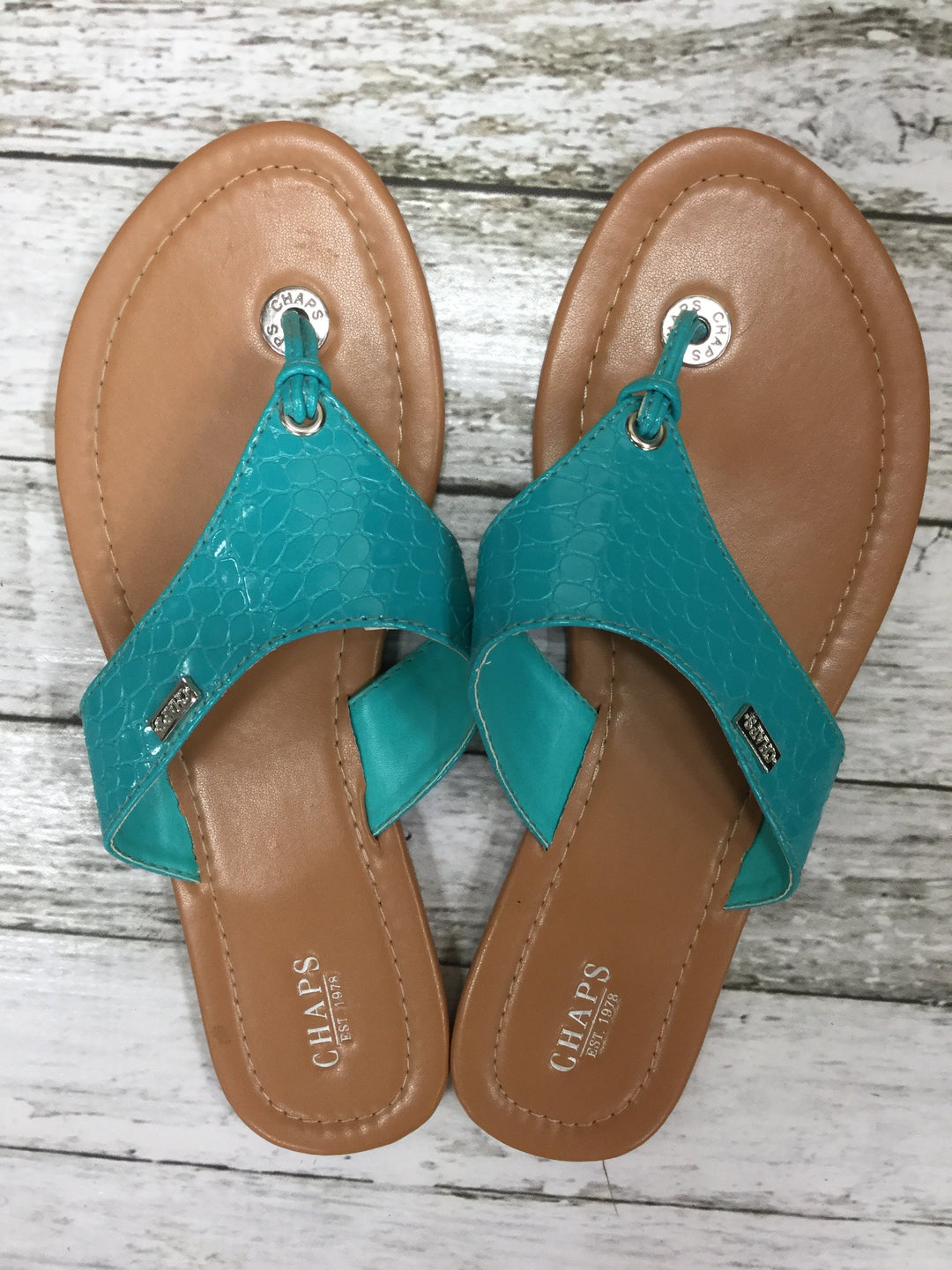 Primary Photo - brand: chaps , style: sandals , color: turquoise , size: 7 , sku: 127-4169-22464