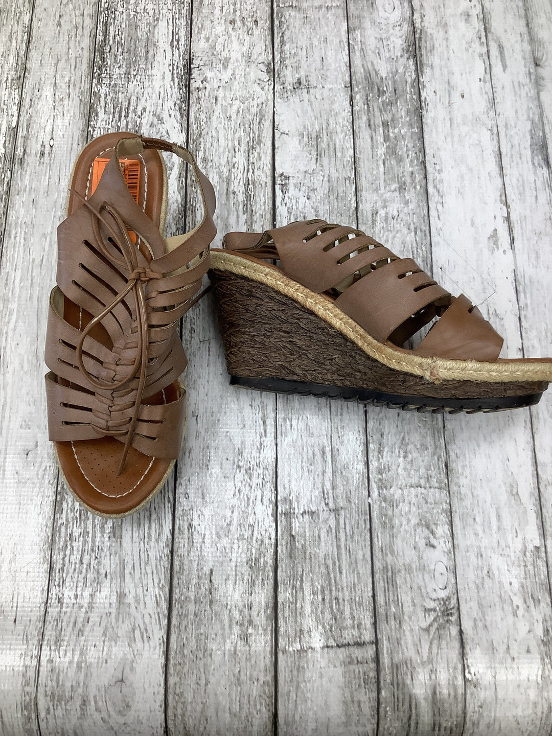 Primary Photo - brand: spring step , style: sandals high , color: tan , size: 9 , sku: 105-3847-12476
