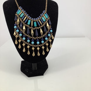 Primary Photo - BRAND: STELLA AND DOT STYLE: NECKLACE COLOR: GOLD OTHER INFO: MULTI COLDERS OF BLUE SKU: 105-3221-18007