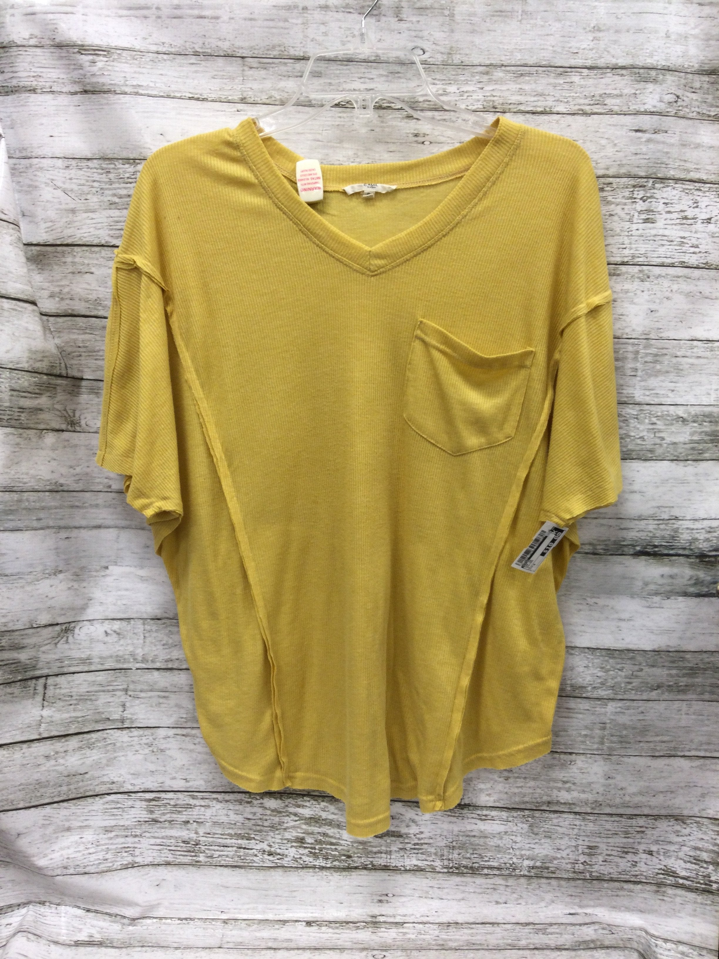 Primary Photo - brand: easel , style: top short sleeve , color: mustard , size: s , sku: 127-4876-12478