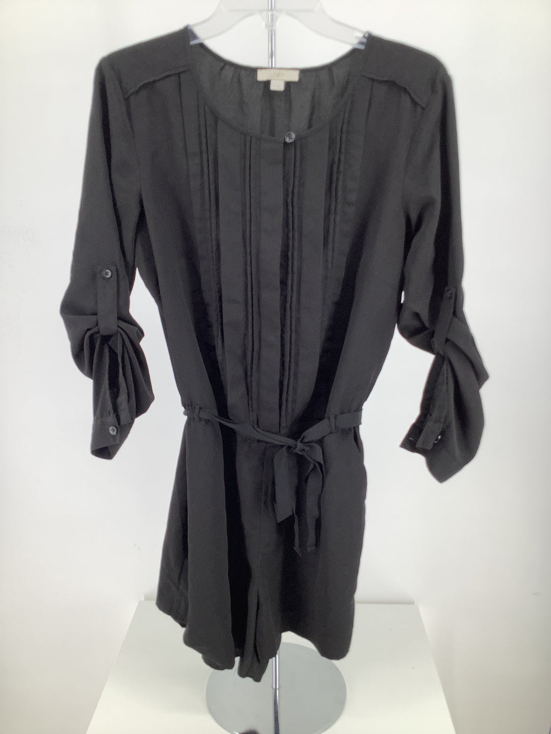 Primary Photo - brand: loft , style: jumpsuit , color: black , size: 4 , sku: 105-3221-17325